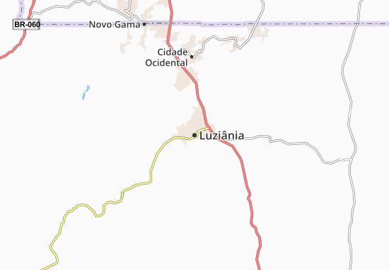 Kaart Plattegrond Luziânia