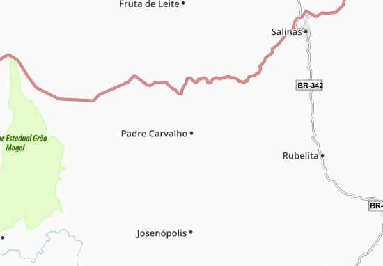 Carte-Plan Padre Carvalho