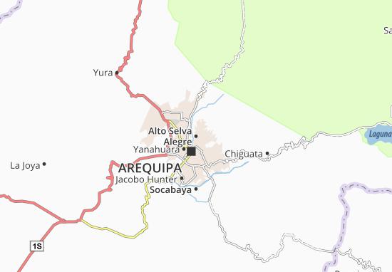 Carte-Plan Alto Selva Alegre