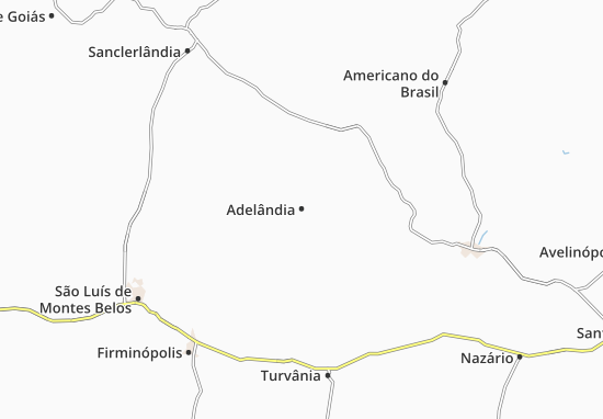 Carte-Plan Adelândia
