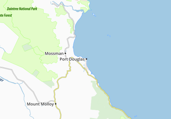Port Douglas Karte.Karte Stadtplan Port Douglas Viamichelin
