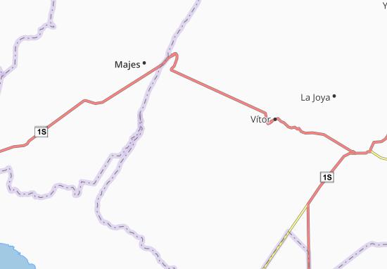 Kaart Plattegrond Santa Rita de Siguas