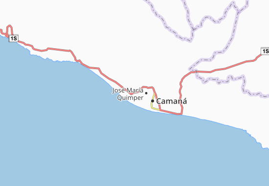 Kaart Plattegrond Mariscal Cáceres