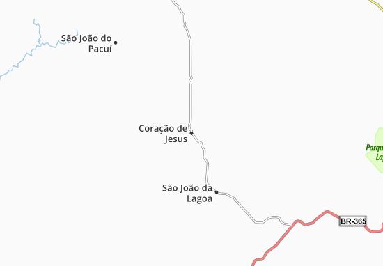 Coração de Jesus Map