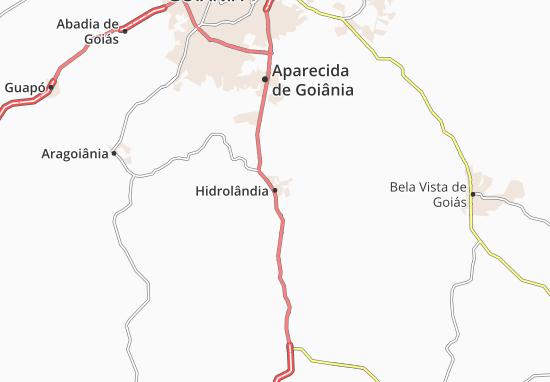 Kaart Plattegrond Hidrolândia