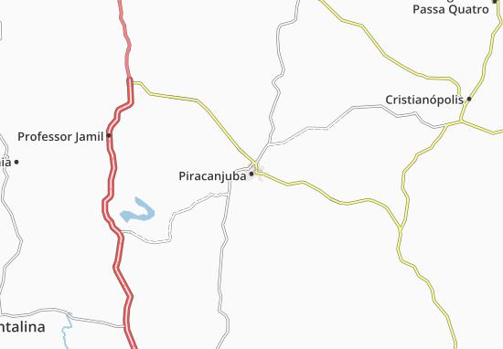 Piracanjuba Map