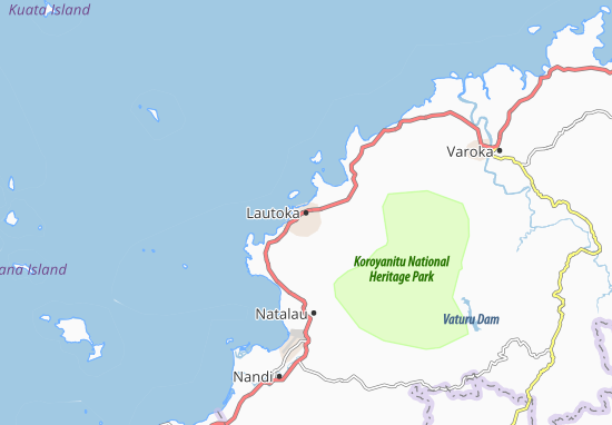 Mapa Plano Lautoka