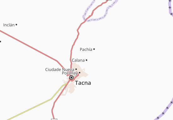 Karte Stadtplan Calana