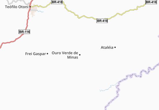 Carte-Plan Ouro Verde de Minas