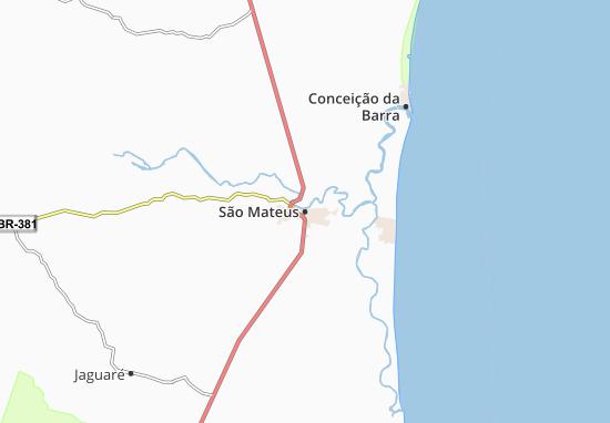 Kaart Plattegrond São Mateus