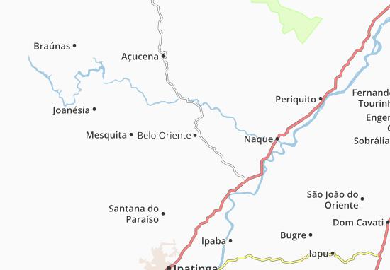 Belo Oriente Map