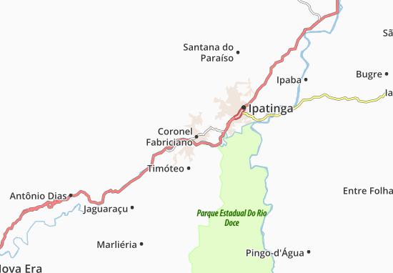 Coronel Fabriciano Map