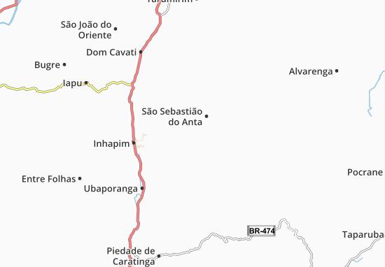 Kaart Plattegrond São Domingos das Dores