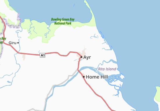 Kaart Plattegrond Ayr