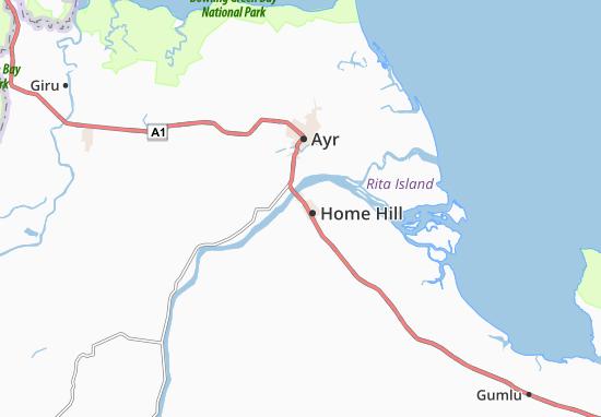 Kaart Plattegrond Home Hill