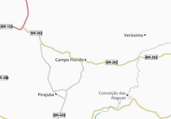Campo Florido Map