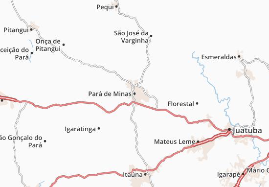 Carte-Plan Pará de Minas