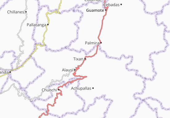 Kaart Plattegrond Tixan