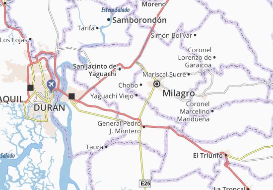 Karte Stadtplan Yaguachi Viejo