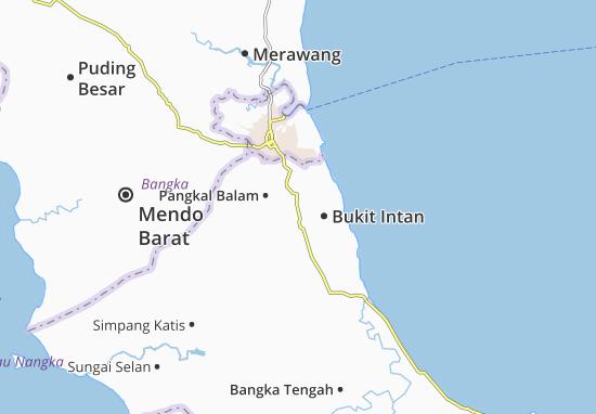 Carte-Plan Pangkal Pinang-Kodya