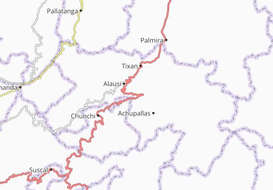 Karte Stadtplan Guasuntos