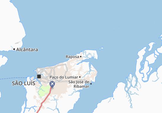 Kaart Plattegrond Raposa