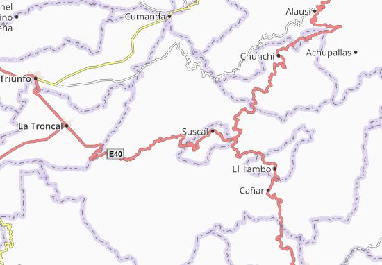 Karte Stadtplan Chontamarca
