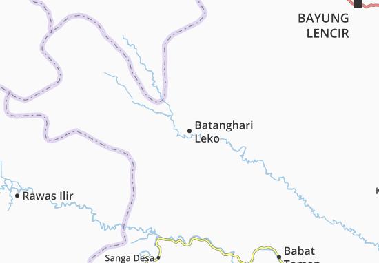 Batanghari Leko Map