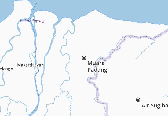 Muara Padang Map