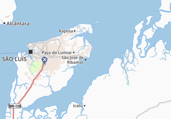 Kaart Plattegrond São José de Ribamar