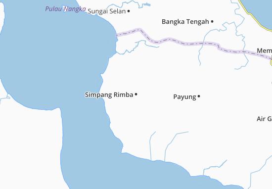 Simpang Rimba Map