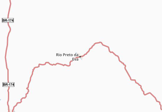 Kaart Plattegrond Rio Preto da Eva