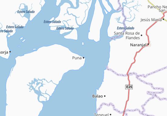 Kaart Plattegrond Puna