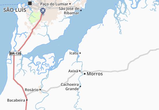 Kaart Plattegrond Icatu