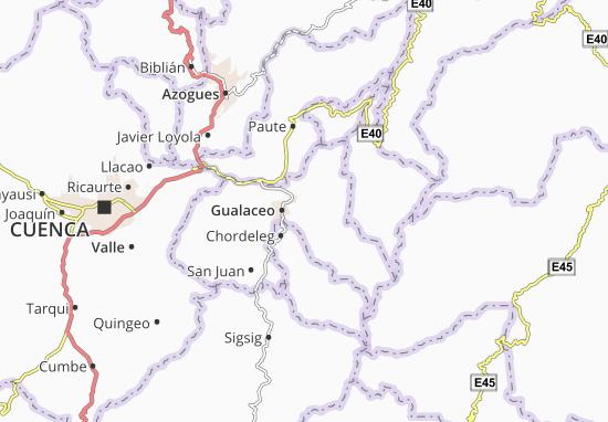 Luis Cordero Vega Map