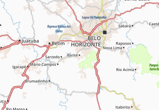 Kaart Plattegrond Ibirité
