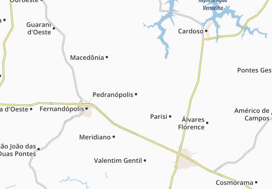 Carte-Plan Pedranópolis
