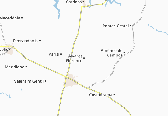 Carte-Plan Álvares Florence