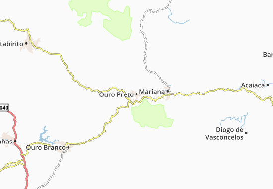 Carte-Plan Ouro Preto