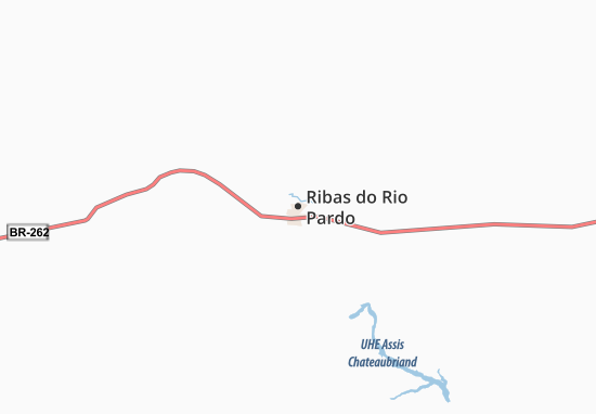 Ribas do Rio Pardo Map