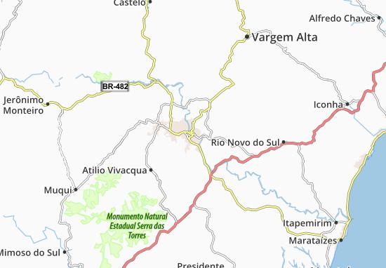 Kaart Plattegrond Cachoeiro de Itapemirim