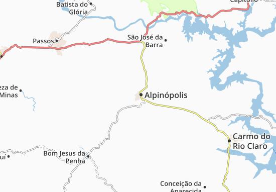 Carte-Plan Alpinópolis