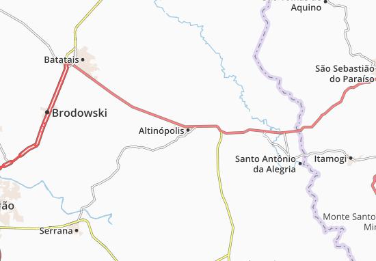 Carte-Plan Altinópolis