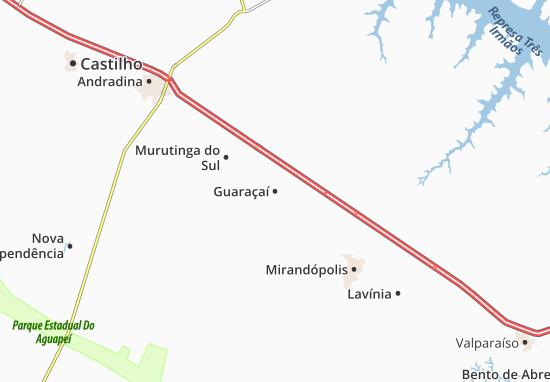 Carte-Plan Guaraçaí