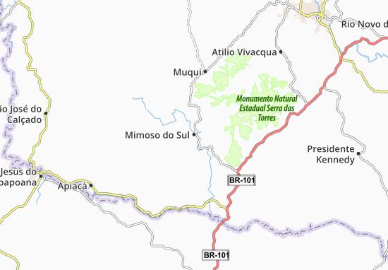 Mappe-Piantine Mimoso do Sul