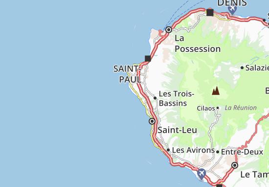 Detailed map of la saline les bains la saline les bains for Salin les bains