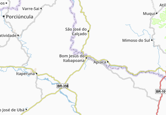 Bom Jesus do Itabapoana Map