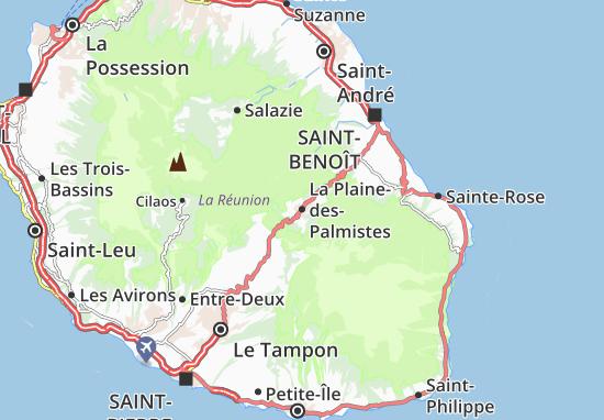 Carte-Plan La Plaine-des-Palmistes