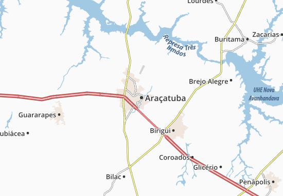 Carte-Plan Araçatuba