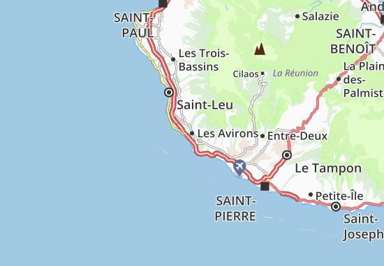 Les Avirons Map